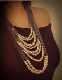t shirt and pearls....like that idea.  Will have to make this.