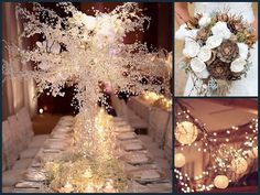 Ideas para bodas en Invierno: floes e iluminacion / winter wedding inspiration, flowers & lights