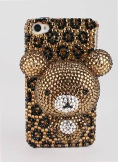 This is a lovely jewel infested, I mean embelished , iphone case with a 3 D bear on the front. Only $135.20.  WHAT?! Just... what?  I cant even ... Im just... There are no words sufficient to describe this monstrosity.