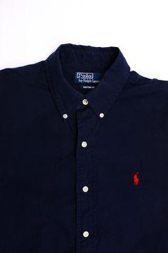 c50da4fd864 beggarsvintage  Ralph Lauren Polo Navy Shirt