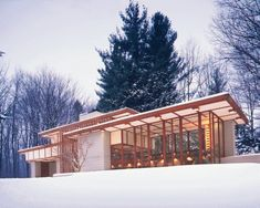 Louis Penfield House in Willoughby by Frank Lloyd Wright