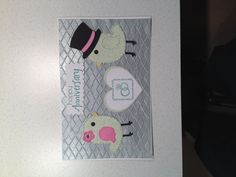 Perfect pair anniversary card i created using cricuts sweethearts