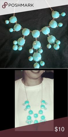 Turquoise Bauble Statement Necklace Turquoise statement necklace Jewelry Necklaces