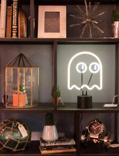 A little neon ghost #shelfie