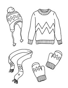 Printable Winter Clothes Coloring Page Free Printable Coloring Pages, Free Coloring Pages, Coloring Sheets, Warm Outfits, Winter Outfits, Kids Outfits, Winter Clothes, Coloring Pages Winter, Coloring Pages For Kids