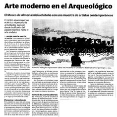 "En la prensa: ""Arte moderno en le Arqueológico""."