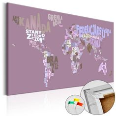 WORLD MAP - Mapa del Mundo en  Tablero de Corcho - Airytale World de Thegiftclub en Etsy