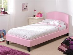 Snuggle Beds Natalie in Pink. 3' Single Leather Bed