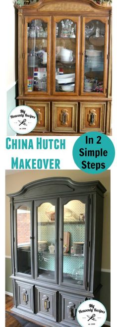 diy furniture makeovers. China Hutch Makeover - This Literally Took Me Just 1 Day And 2 Simple Steps To Diy Furniture Makeovers