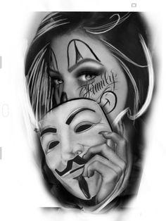 Drake Tattoos, Gangsta Tattoos, Badass Tattoos, Watch Tattoos, Time Tattoos, Sleeve Tattoos, Tattoos For Guys, Chicano Style Tattoo, Chicano Tattoos