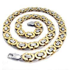 Men's Jewelry Accessories Necklace Made of Titanium Steel 316L-Color Black & Silver #men'sjewelry