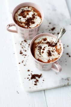 Dessert Recipes, Desserts, Beautiful Christmas, Nutella, Hot Chocolate, Winter Wonderland, Goodies, Health Fitness, Food And Drink