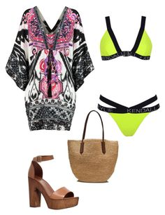 """""""swim """" by multifandom01 ❤ liked on Polyvore featuring Emilio Pucci, Carvela, J.Crew, Topshop, GetTheLook and Swimsuits"""