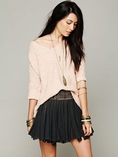 Free People Oversized Short Sleeve Jumper http://www.freepeople.co.uk/whats-new/oversized-short-sleeve-pullover/