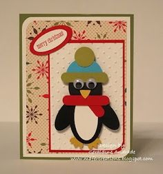 Stampin Up!  Punch Art  Geraldine Andrade  Penguin#Repin By:Pinterest++ for iPad#