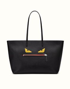 FENDI | ROLL BAG leather tote with Buggies pattern