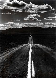 Ansel Adams  Road, Nevada Desert, 1960
