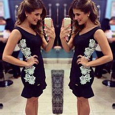 Fashion Lace Embroidery Sleeveless Slim Fit Dress #womenfashion Slim Fit Dresses, Nice Dresses, Formal Dresses, Hat World, Lace Embroidery, Fashion Colours, 98, Ideias Fashion, Sexy