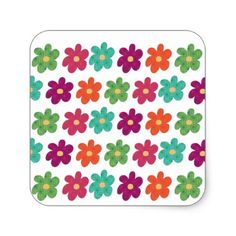 Dances With Flowers Square Sticker - girl gifts special unique diy gift idea