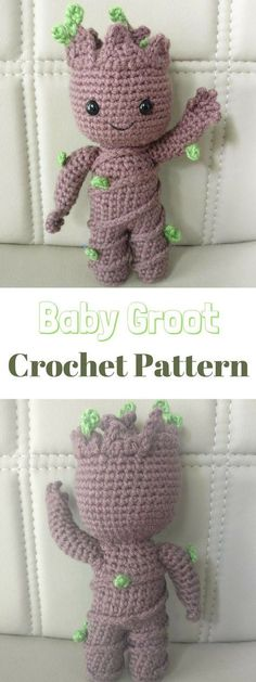 I just love this Baby Groot Crochet Pattern!!!