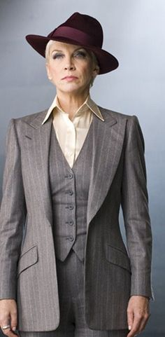 """Classy, nicely tailored 3-piece suits are one of my favorite things. :) - """"Annie Lennox, circa 2010"""""""