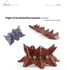 Flight of the Butterflies beadweaving by daxbeadartpatterns