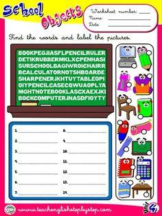 School Objects - Worksheet 4