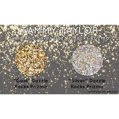 Tammy Taylor Gold and Silver Dazzle Rocks Prizma!  Need these.  tammytaylornails.com
