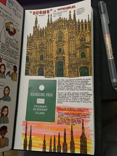 Oh yeah, just let me draw the Duomo...