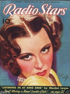 1936 Radio Stars Magazine Earl Christy  Cover