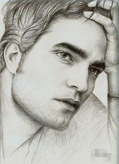 Robert Pattinson drawing