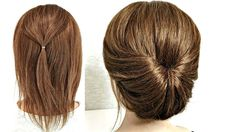 Hairstyle for Short Hair. Just do it yourself! Hairstyle for Short Hair. Just Make Yourself! - Hairstyle for Short Hair. Just do it yourself! Hairstyle for Short Hair. Just Make Yourself! Hairdos For Short Hair, Black Ponytail Hairstyles, Fast Hairstyles, Braided Ponytail, Hairstyle Short Hair, Short Hair Hacks, Medium Hair Styles, Short Hair Styles, Bun Styles