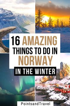 Here are 16 amazing things to do in Norway in Winter! Visiting Norway in winter is an amazing experience: see the Northern Lights, fjords, and more. Here are 16 amazing things to do during Winter in Norway. | Norway winter itinerary | Winter in Norway | What to do in Norway during Winter | Norway Winter Guide | #norway #wintertravel