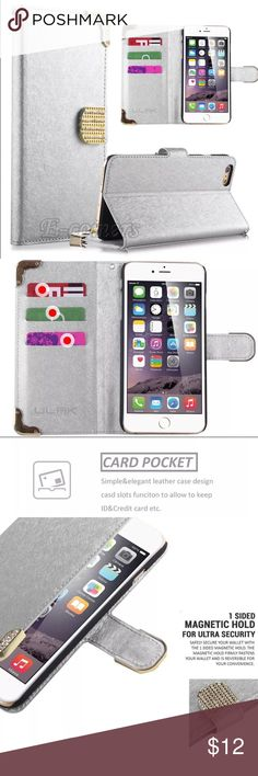 iPhone 6 Wallet Case Brand new wallet case silver color Accessories Phone Cases