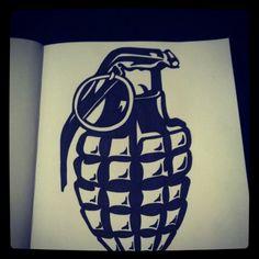 Grenade, tattoo