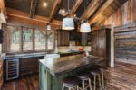 Rustic Riverside cabin kitchen