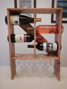 Pallet wood wine rack wooden projects, pallet projects, diy projects to Wine Glass Rack, Wood Wine Racks, Wine Rack Inspiration, Pallet Wine Rack Diy, Unique Wine Racks, Wood Pallets, Pallet Wood, Wooden Crates, Wine Rack Design