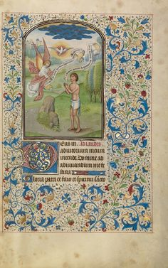 A Man Praying to the Holy Spirit; Willem Vrelant (Flemish, died 1481, active 1454 - 1481); Bruges, Belgium; early 1460s; Tempera colors, gold leaf, and ink on parchment; Leaf: 25.6 x 17.3 cm (10 1/16 x 6 13/16 in.); Ms. Ludwig IX 8, fol. 18; J. Paul Getty Museum, Los Angeles, California