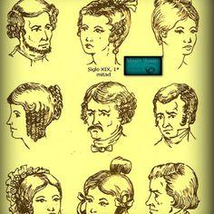 evolucion del peinado de epoca