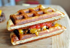 Waffle burger--I want to use my waffle iron more frequently!