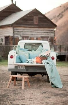 Laying in the back of his truck under the stars just talking would be the best date ever!