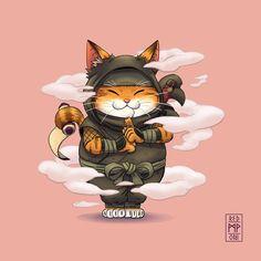 chat ninja – Graffiti World Japanese Artwork, Japanese Tattoo Art, Japanese Tattoo Designs, Character Design Challenge, Male Character, Japanese Cat, Japanese Sleeve, Japon Illustration, Samurai Art