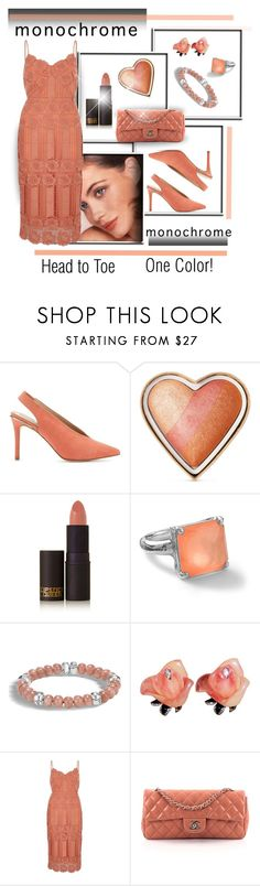 """""""Pretty in Peach"""" by brooksie1920 ❤ liked on Polyvore featuring Miss Selfridge, Too Faced Cosmetics, Lipstick Queen, Ippolita, John Hardy, River Island, Chanel, feminine, fashionset and polyvorecontest"""