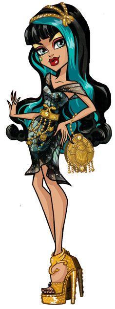 Cleo de Nile Frights, Camera, Action Black Carpet Monster High Illustration