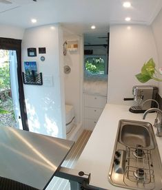 Van Life Inspiration and tips for living full time in a dodge promaster campervan conversion. Van Conversion Interior, Camper Van Conversion Diy, Van Interior, Airstream Interior, Van Conversion Toilet, Van Conversion With Bathroom, Sprinter Van Conversion, Van Conversion Wiring, Small Camper Interior