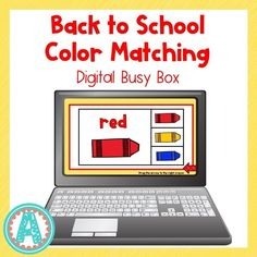 This fun digital busy box is perfect for online instruction and distance learning with your preschool, pre-k, and kindergarten kiddos! It works on multiple platforms and can be used in the classroom too! #mrsasroom Preschool Color Activities, Busy Boxes, Christian School, Kindergarten Teachers, Learning Colors, School Resources, Platforms, Distance, Back To School