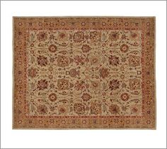 Potential rug for current living room.  Brant Persian-Style Rug #potterybarn