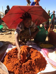 #RootsEthiopia IGA, a woman selling Berbere in a market in Southern Ethiopia. #givingtuesday to sponsor! www.rootsethiopia.org