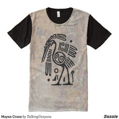 Mayan Crane All-Over-Print T-Shirt - Visually Stunning Graphic T-Shirts By Talented Fashion Designers - #shirts #tshirts #print #mensfashion #apparel #shopping #bargain #sale #outfit #stylish #cool #graphicdesign #trendy #fashion #design #fashiondesign #designer #fashiondesigner #style