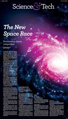 The New Space Race: Privatization Drives Competition|Epoch Times #newspaper #editorialdesign